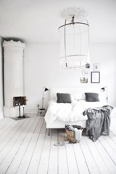 white bedroom #interior #design #decor #bedroom #deco #decoration