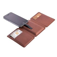Keep your phone charged with this slim, battery integrated wallet.