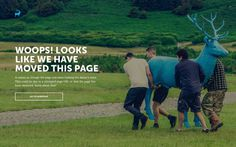 404 Page for Blue Stag #404page #404 #digital