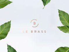 Le Brass Homeware palm leaf green white marble gold golden logo logotype branding corporate design identity business card print letter lette