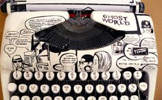 Ghost World Typewriter #typing #comic #illustration #drawing #typewriter