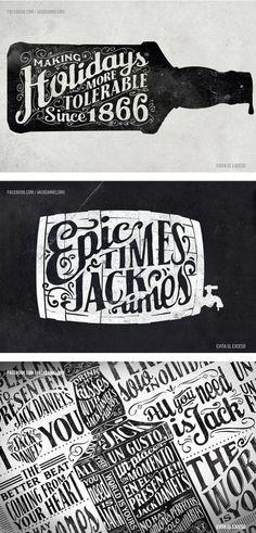 Jack Posters by Abraham García Sánchez #jack #lettering #hand #typography