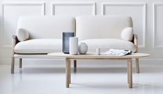 A year after Danish manufacturer Erik Jørgensen and Swedish designer Monica Förster teamed up to make the pillowy Savannah sofa, they've reunited to produce a matching coffee table.