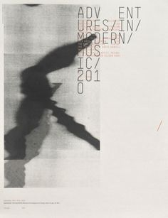 Adventures in Modern Music 2010 — Sonnenzimmer #print #poster #typography