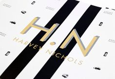 Harveynichols_black_bagscloseup1 #layout #gold #typography