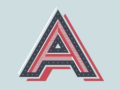 Dribbble - A by Chris Rushing #lettering #letters #typography #letterforms #type #dropcap