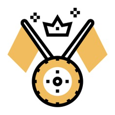 See more icon inspiration related to crown, race, tire, start, wheel, sports and competition, racing flag, races and flag on Flaticon.