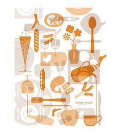 Break Bread Hospitality : Nathan Hinz #silhouettes #overlay #branding