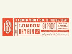 Dribbble - Liquid Shot Co by Ryan Feerer #feerer #type #ryan #logo