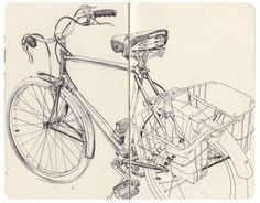 James Jean | Mole B #line #bicycle #james #illustration #jean #work