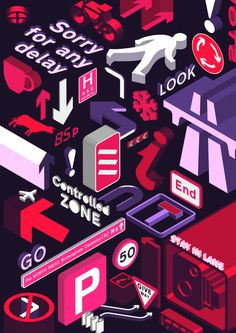 Illustration, Road signs, signage
