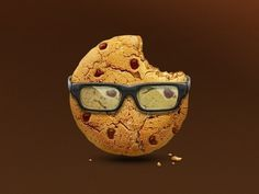 Dribbble - Smart Cookie icon by Artua #glasses #icon #cookie #yummy #logo