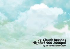 Real Cloud Photoshop Brushes - Designr Kit