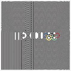 mexico 68 olympics logo #wyman #mexico #1968 #lance #olympics