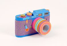 Zim and Zou #camera #colorful #handmade #carboard