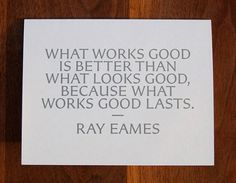 New Work: Art Directors Club Hall of Fame Gala | New at Pentagram | Pentagram #quote #pentagram #ray #eames