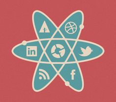 The Social Atom on the Behance Network #illustration