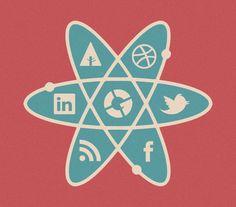 The Social Atom on the Behance Network #illustration
