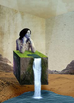 Mother Nature #modern #surrealism #vintage #art #collage