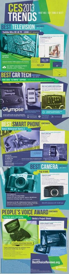 CES 2013 Trends: What Will They Think of Next? #2013 #infographic #design #graphic #ces