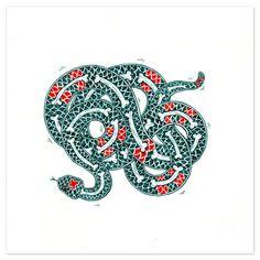 Designersgotoheaven.com Snake inPen #bones #snake