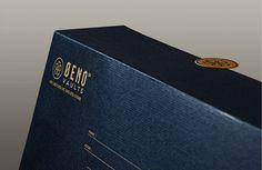Oeno Vaults on Behance #ticker #printing #envelope #gold #stationery