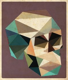 Polygons : Dave Murray Illustration - 416-629-1717 #skull #murray #dave