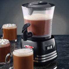 Retro Hot Chocolate Maker From Nostalgia Electrics #chocolate #gadget #home