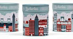 strohl design #packaging #tin #illustration #leckerlee