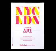 Poster design for Sotheby's #art #poster #colourful
