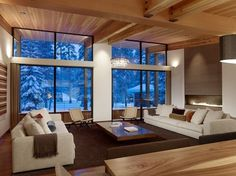 Wanken - Sugar Bowl Residence #interior #modern #design #wood #architecture #residence