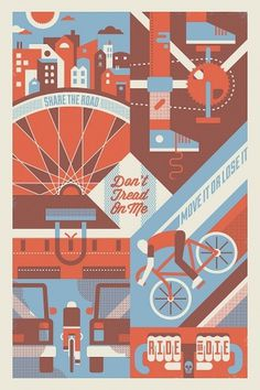 All sizes | Pinchflat2 poster | Flickr - Photo Sharing! #bike #screenprint #poster