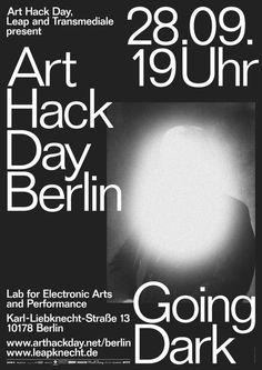 Lamm Kirch_arthackday going dark #poster typography