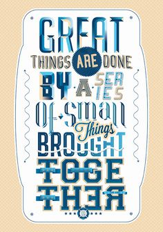EIGHT 8 // TYPOGRAPHY ILLUSTRATIONS::: on Typography Served #quote #poster #typography