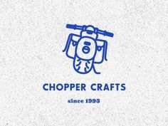 Dribbble - Chopper Crafts Logo by Janos Koos #motorbike #chopper #vintage #logo #blue