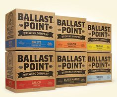 Ballast Point Cases #beer #packaging