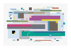 Line Dance 5 - Burton Kramer Paintings #painting #burton #kramer