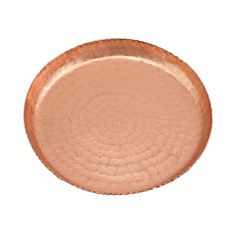 Beaten Copper Round Tray, 20cm