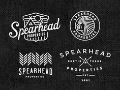 Spearhead by Keith Davis Young #indian #badge #branding
