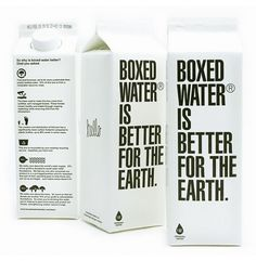 Boxed Water : Lovely Package . Curating the very best packaging design. #graphic design #packaging