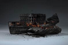 Creative Concept : Deconstruction of America by Mike Campau #ArtWork