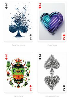 Beautiful Playing Arts Card Deck of 54 Participants From All Over the World #deck #card #illustrations