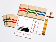 Logo, stationery and packaging with uncoated, unbleached material detail designed by Studio Birdsall for French notebook brand and manufactu #stationery #typography