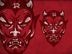 Two #retro #texture #devil #illustration #football
