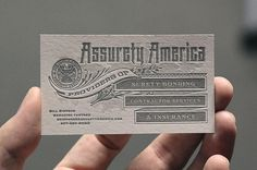 Assurety America #card #design #letterpress #biz