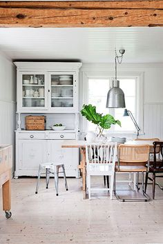 scandinavian white home kitchen