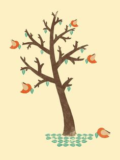 Tree of Hope #graphic design #illustration #animals #nature