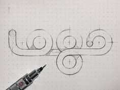 Dribbble - logo by Eddie Lobanovskiy #logo #pencil #sketch #typography