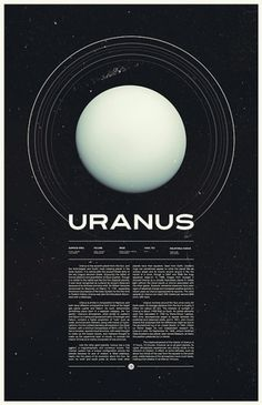 Under the Milky Way, Ross Berens's Portfolio #uranus #typo #space #poster