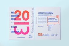 The Designers Behind the UTS Gradshow #typography #letterpress #exhibition #gradient
